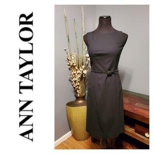 NWT Ann Taylor sleeveless sheath black dress